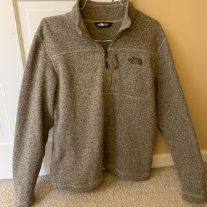 North face zip up sweater/pullover